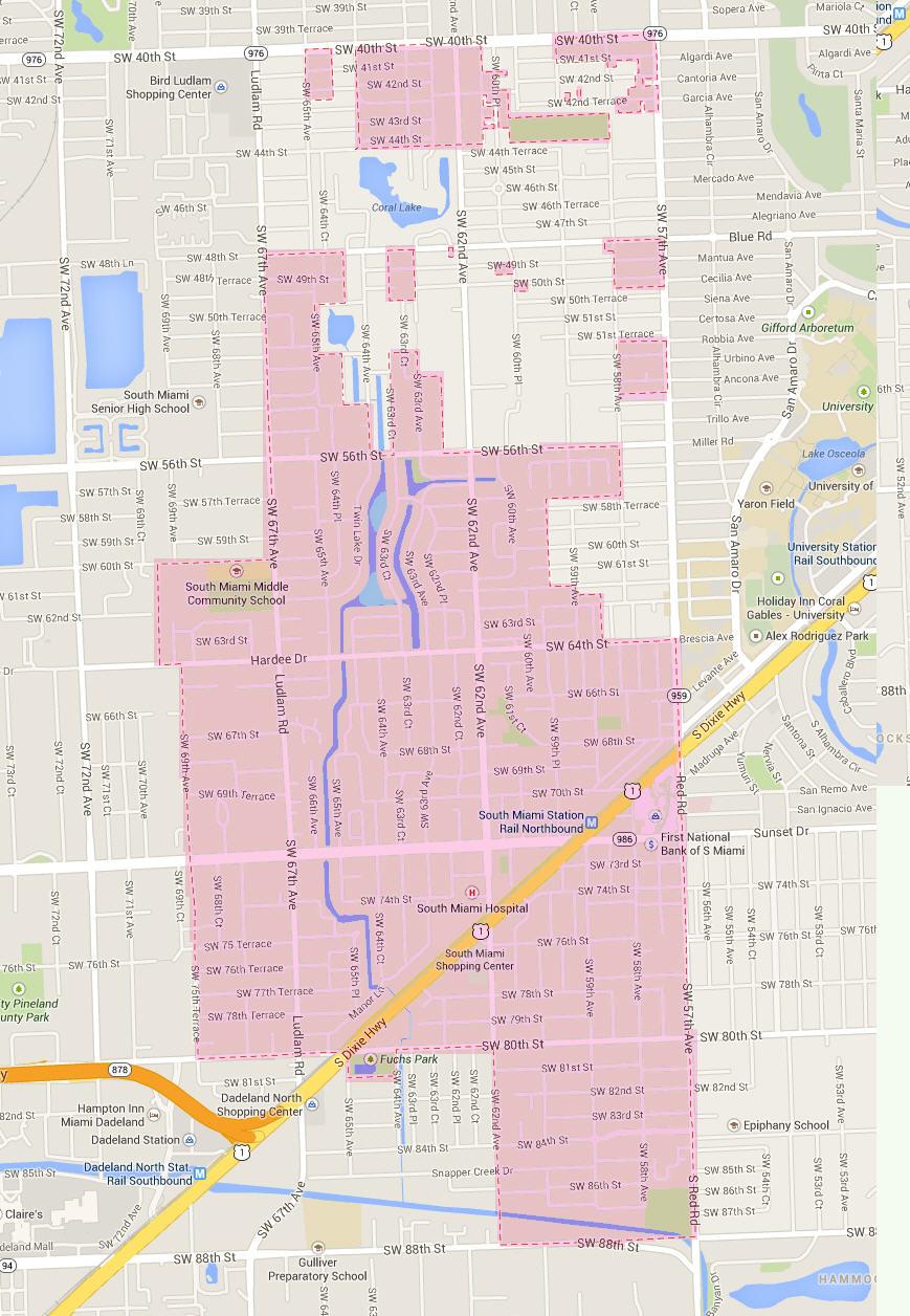 South Miami Map